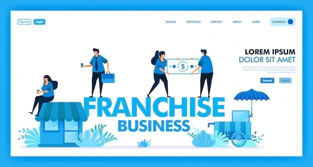 Vector design of franchise business system for open retailer store Premium Vector