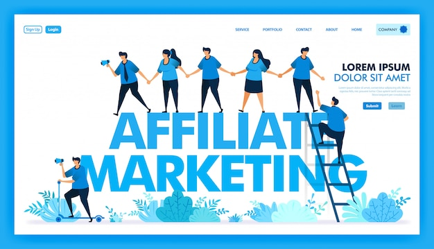 Vector design of refer a friend and join hands to invite in affiliate program Premium Vector