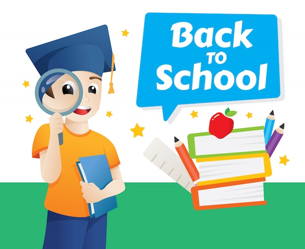 Vector design template for back to school Premium Vector