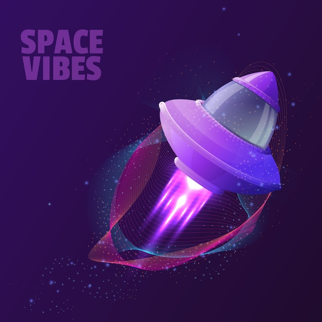 Vector design with space ship Premium Vector
