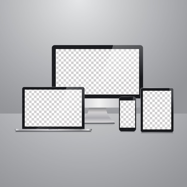 Vector devices mockup Premium Vector