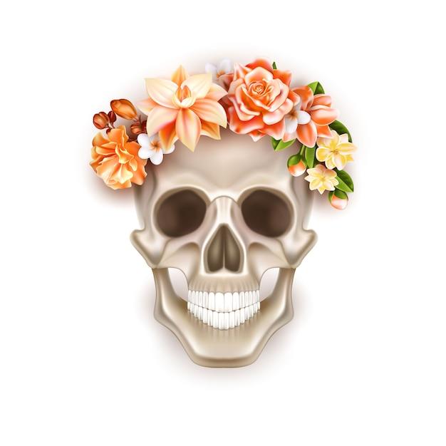 Векторный день мертвого черепа Premium векторы