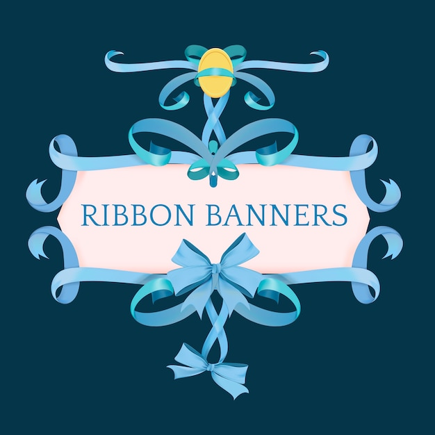 Vector of different ribbon banners Free Vector