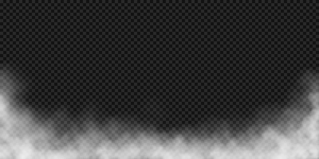 Vector effect of fog or white smoke Premium Vector