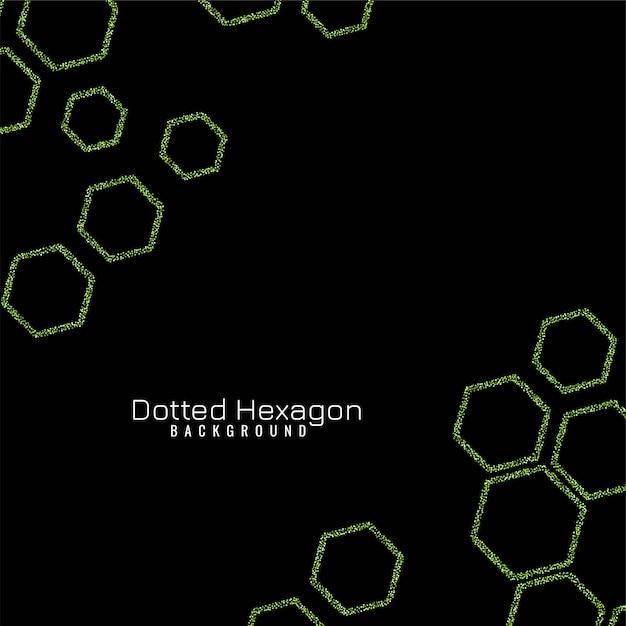 Vector elegant glitters hexagon Free Vector