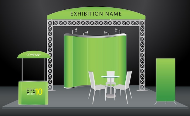 Vector exhibition stand design Premium Vector