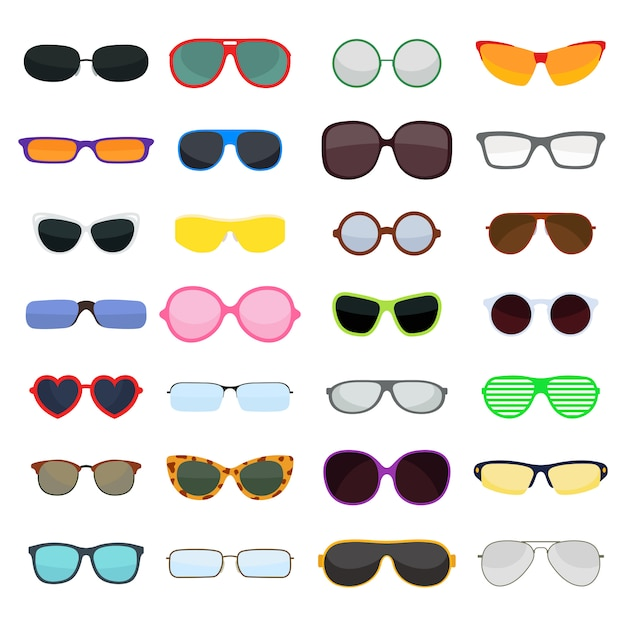 Vector fashion glasses isolated Premium Vector