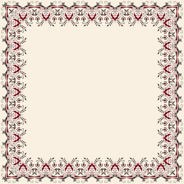 Vector fine floral square frame decorative element for invitations decorative element for invitations and cards border element free stopboris Images