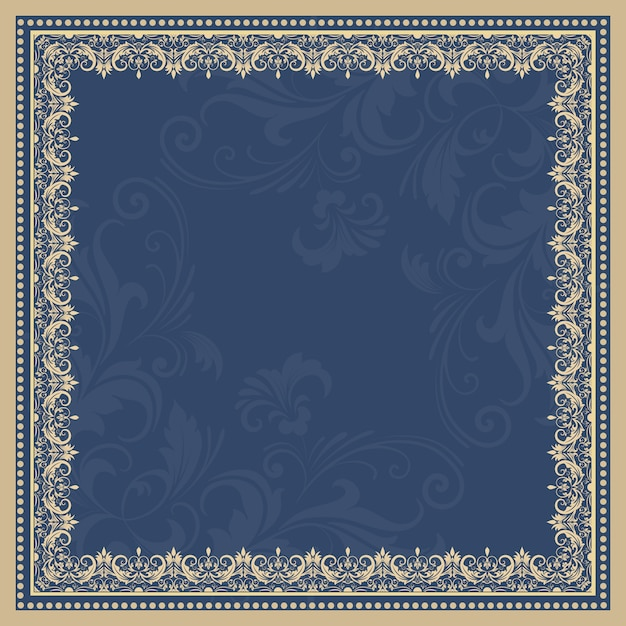 Royal frame vectors photos and psd files free download vector fine floral square frame decorative element for invitations and cards border element stopboris Image collections