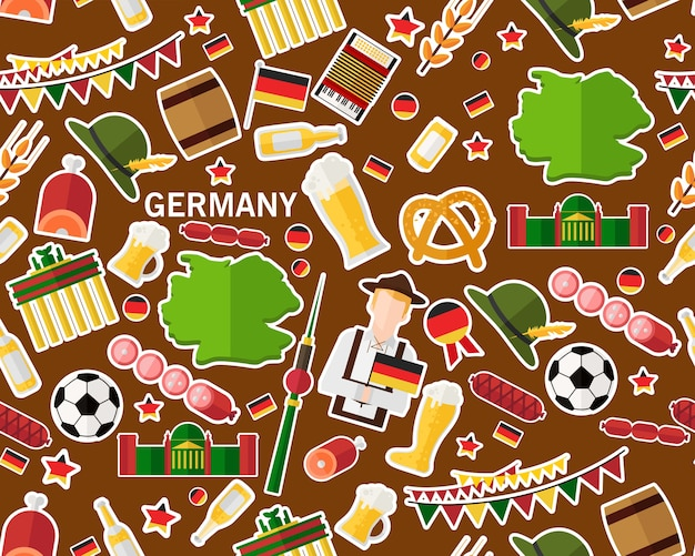 Vector flat seamless texture pattern germany Premium Vector