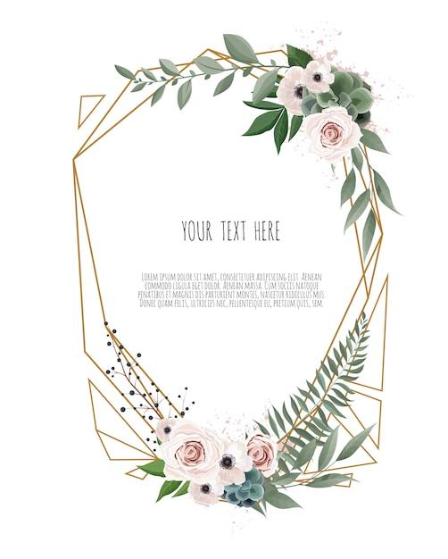 Vector floral botanical card design Premium Vector