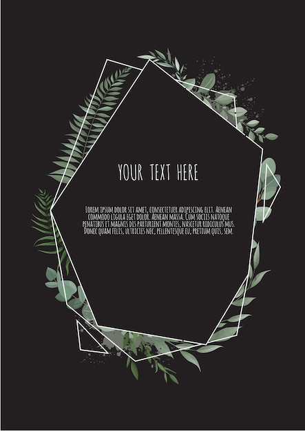 벡터 꽃 식물 카드 프리미엄 벡터