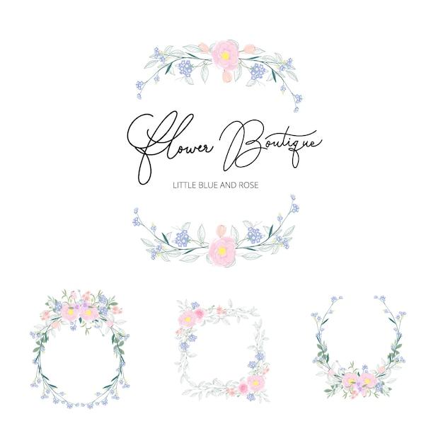 Vector floral bouquet design for wedding Premium Vector