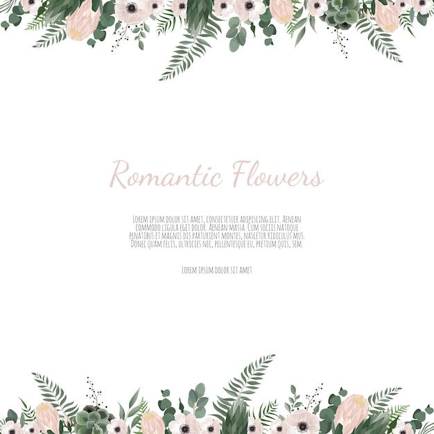 Vector floral design card Premium Vector