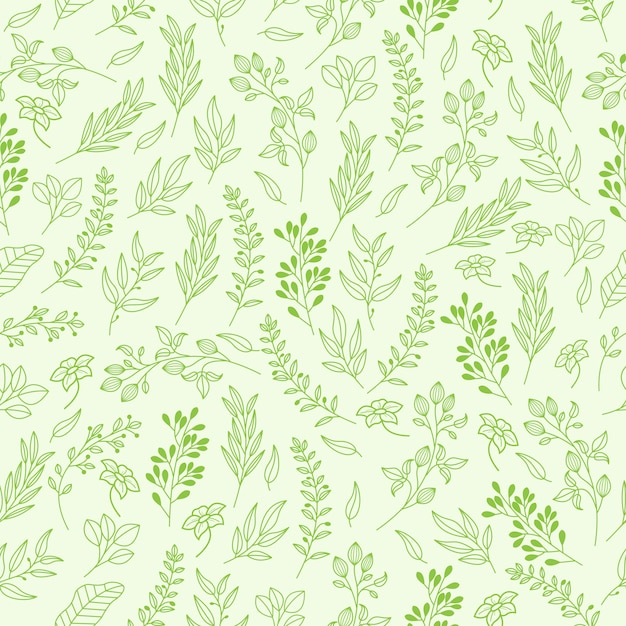Vector floral pattern in elegant style Premium Vector