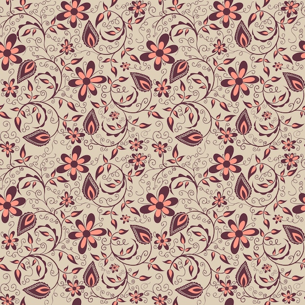 Vector flower seamless...