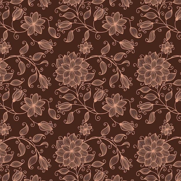 Vector Flower Seamless Pattern Background. Elegant Texture