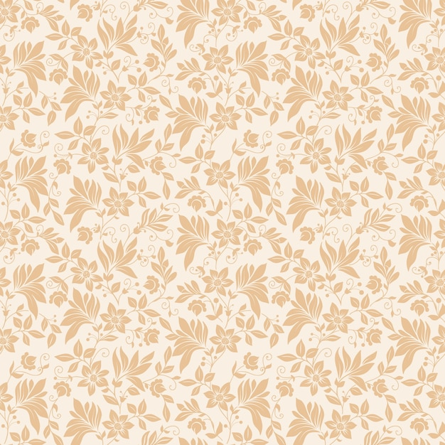 Vector flower seamless pattern background. Elegant texture for backgrounds. Classical luxury old fashioned floral ornament, seamless texture for wallpapers, textile, wrapping. Free Vector