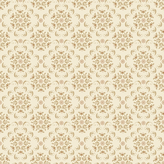 Vector flower seamless pattern background. Elegant texture ...
