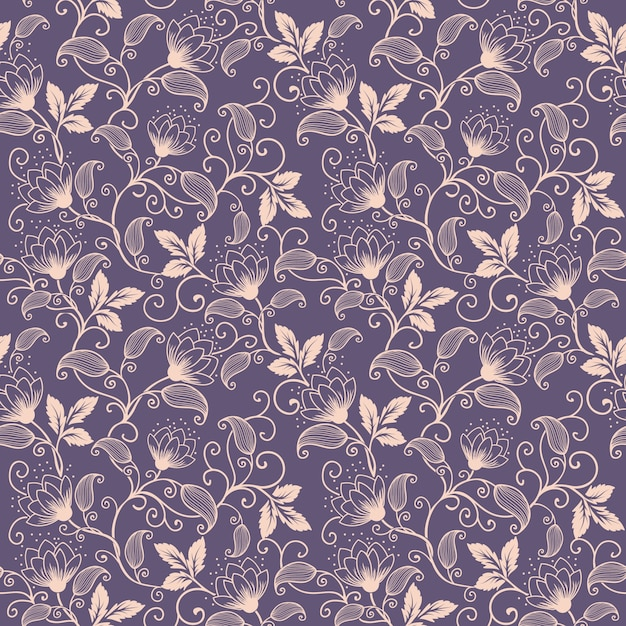Vector Flower Seamless Pattern Background Elegant Texture For Gorgeous Pattern Backgrounds