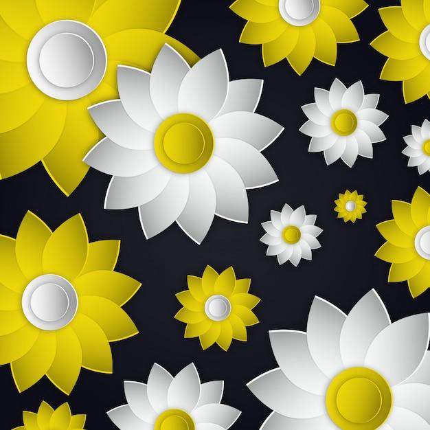 Vector flowers illustration design Free Vector