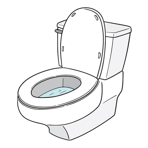 Vector of flush toilet Premium Vector