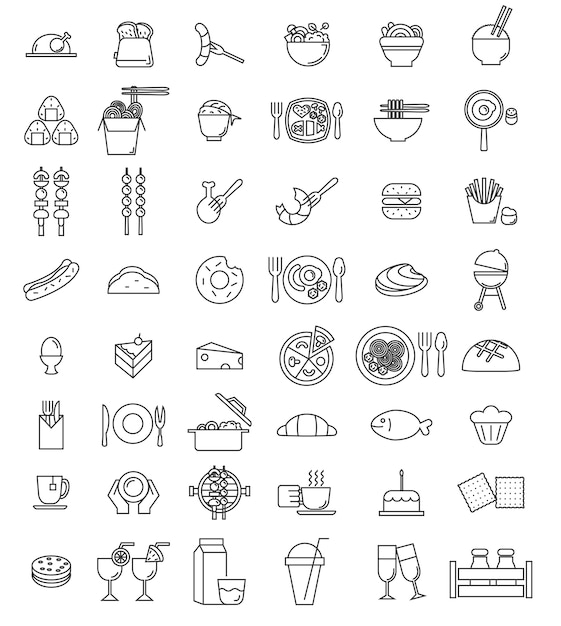 Vector food icon set Premium Vector