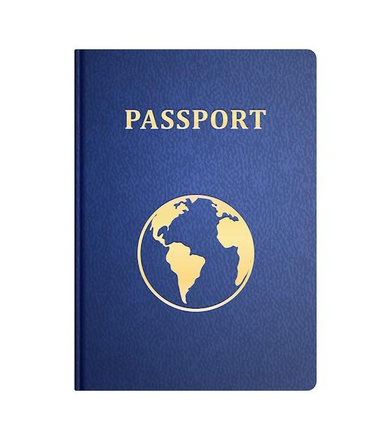 白で隔離パスポートのベクトルフロントカバー 無料ベクター