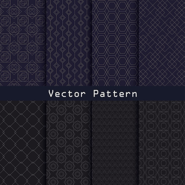 Vector geometric luxury pattern collection design Premium Vector