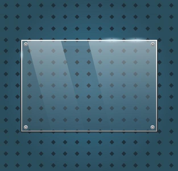 Vector glass frame Premium Vector