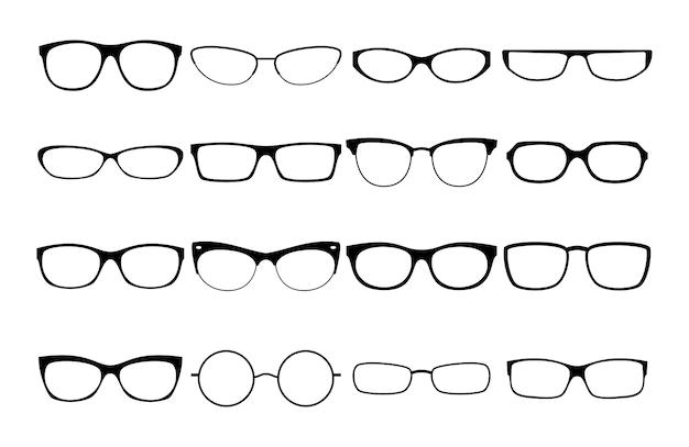 Vector glasses frames Premium Vector