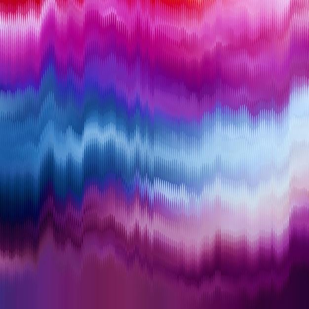 グリッチのベクトルの背景。デジタル画像データの歪み。信号エラーのカオス美学。デジタル減衰。 無料ベクター