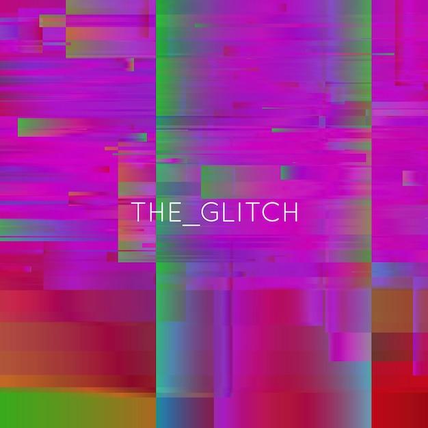 Vector glitch background. digital image data distortion. chaos aesthetics of signal error. digital decay. Free Vector
