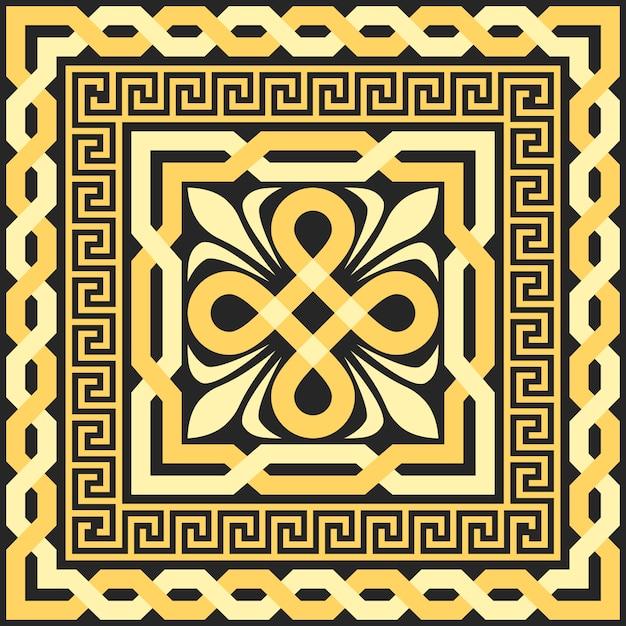 Vector gold pattern of interlacing lines Premium Vector