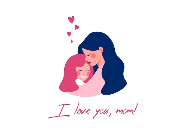 Vector greeting card for happy mother's day Premium Vector