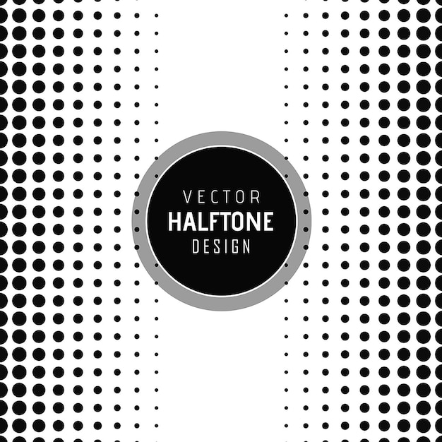 Vector halftone design background Free Vector