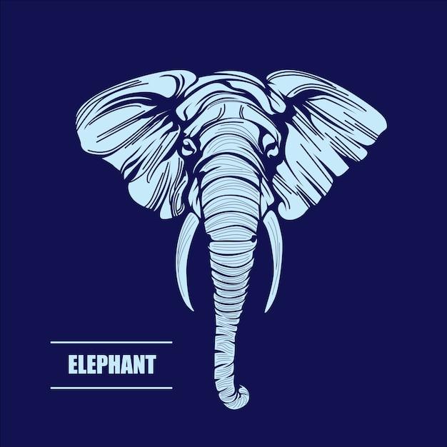 Vector hand drawn illustration of elephant Premium Vector