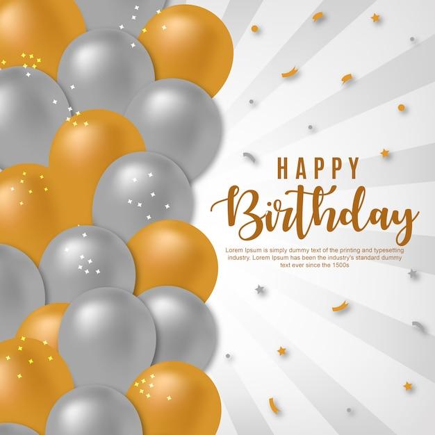 Vector happy birthday background Premium Vector