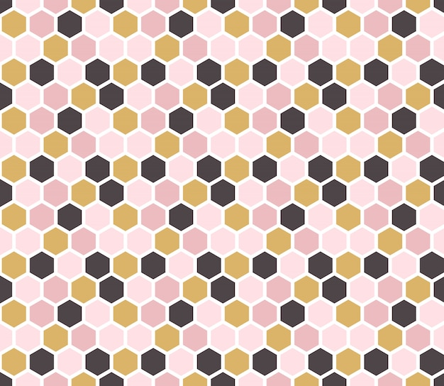 Vector hexagonal wallpaper. Premium Vector