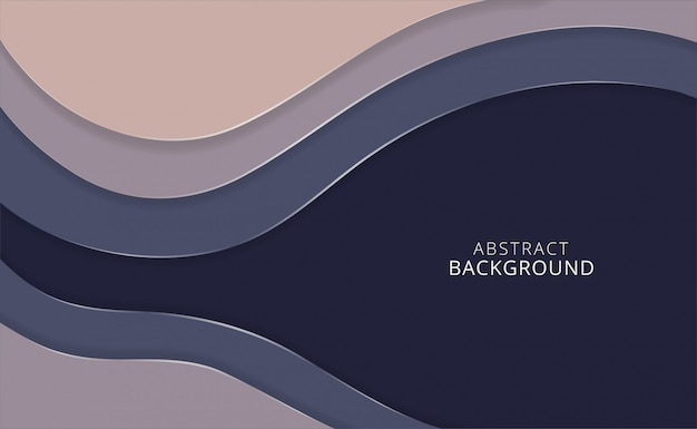 Vector horizontal paper cut abstract background Premium Vector