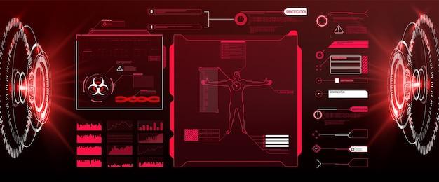 Векторный hud gui футуристический дисплей hitech Premium векторы