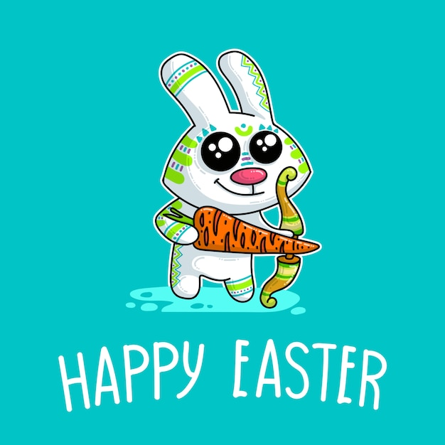 Vector illustration about easter bunny Premium Vector