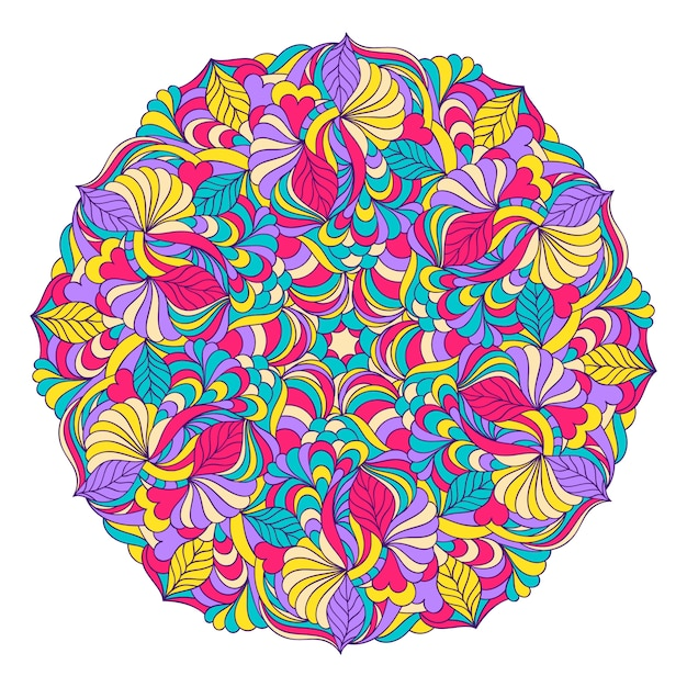 Vector illustration of abstract hand drawn mandala Premium Vector