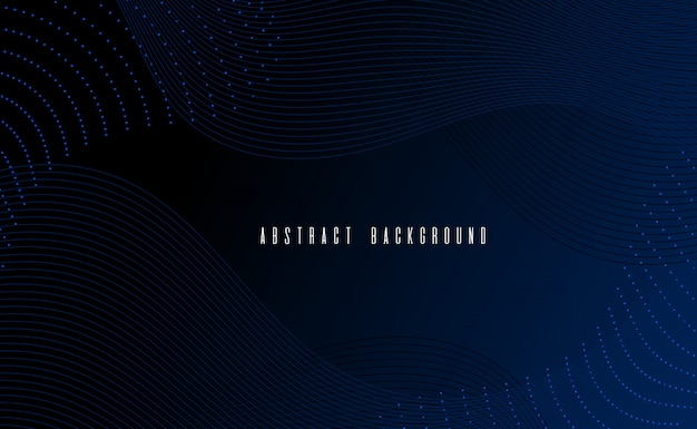 Vector illustration abstract wireframe background gradient and glowing and monochrome color style Premium Vector