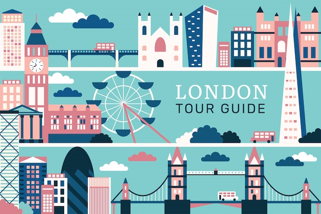 Vector illustration beautiful of london Premium Vector