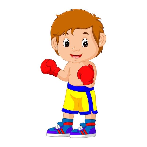 Vector illustration of boxing Premium Vector