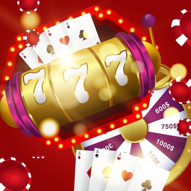 Vector illustration on a casino theme Premium Vector