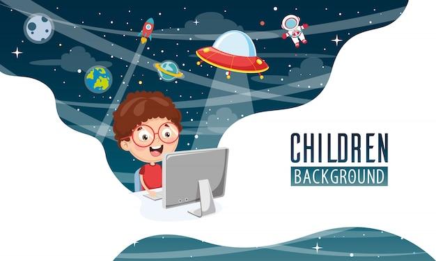 Vector illustration of children background Premium Vector