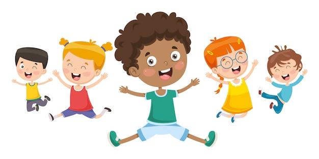 Vector illustration of children playing Premium Vector