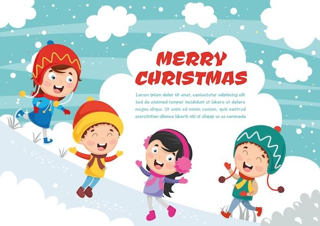 Vector illustration of christmas Premium Vector